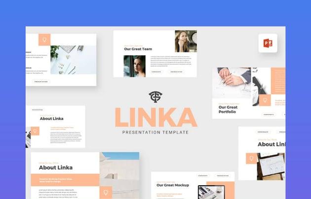 corporate presentation templates - linka
