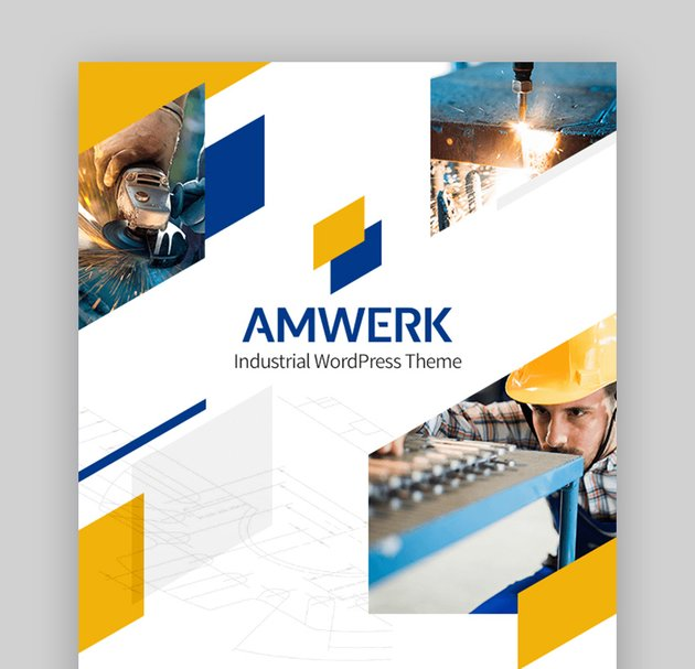 Amwerk Industrial Factory Business WordPress Theme