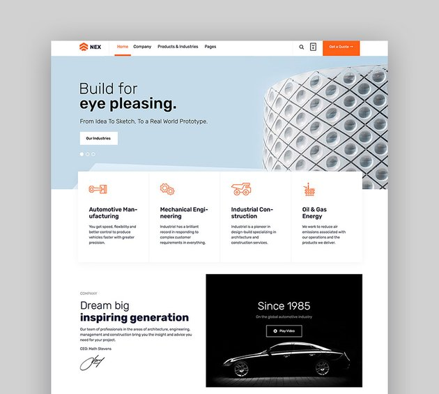 Nex Factory WordPress Theme