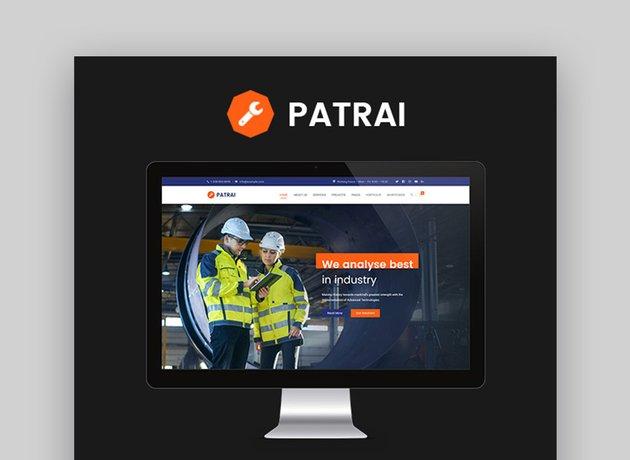 Patrai Industrial Industry & Factory WordPress Theme