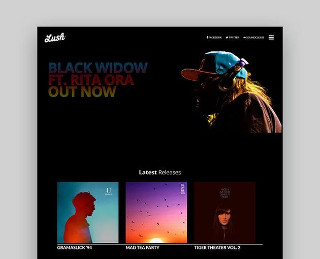 Lush Music Producer WordPress Theme