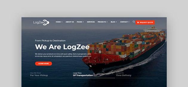 Logzee Logistic Transport WordPress Theme