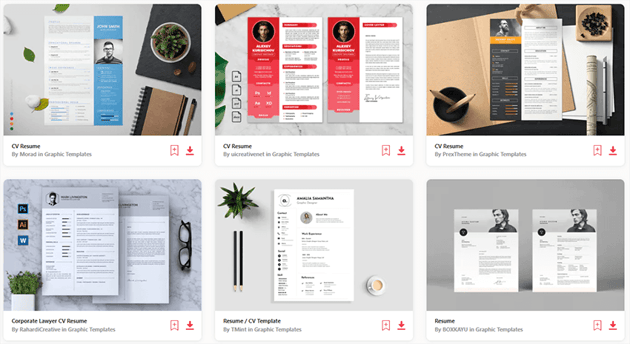 Envato Elements Interesting Really Cool Resumes