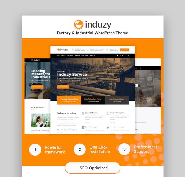 Induzy Industrial Template WordPress
