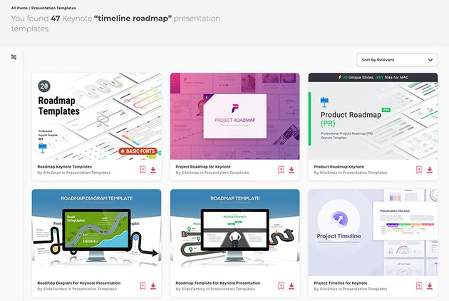 Keynote Timeline Templates From Envato Elements