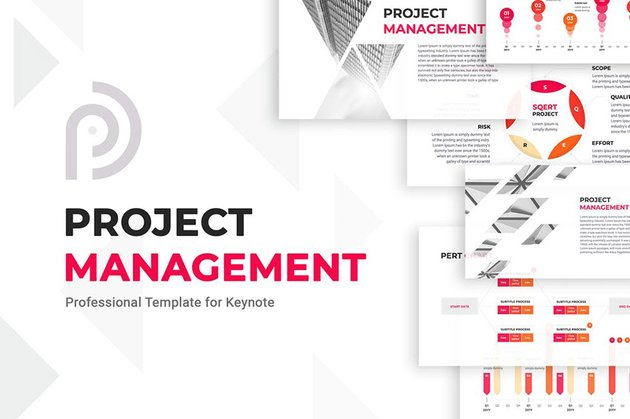 Project Management Apple Keynote Timeline Template