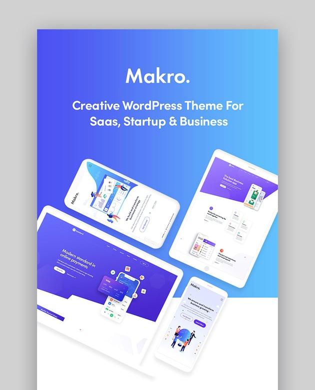Makro WordPress Theme for SaaS