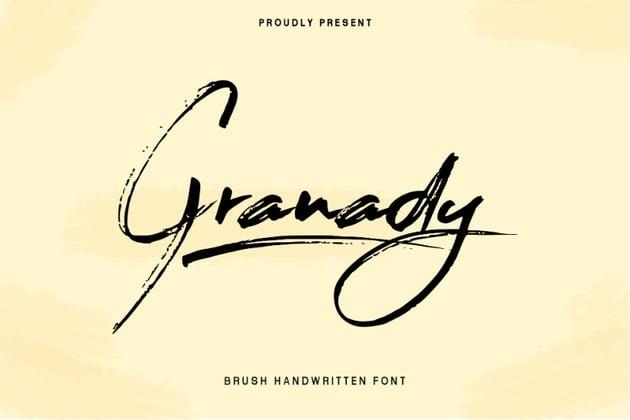 Granaday Handwriting Brush Font