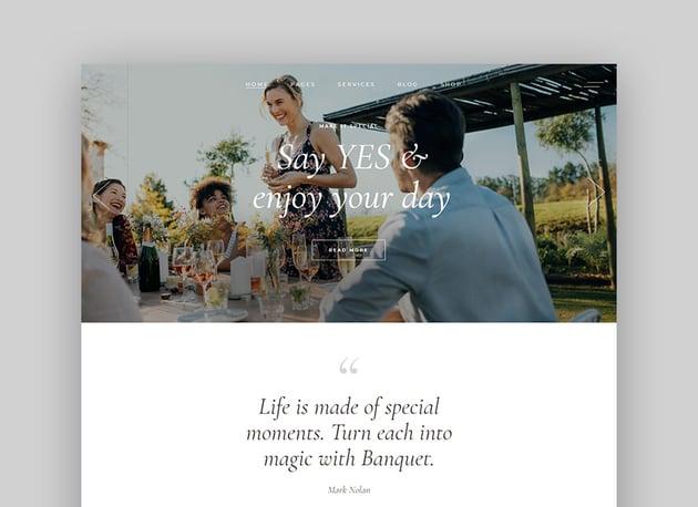 Banquet Wedding Planner WordPress Theme