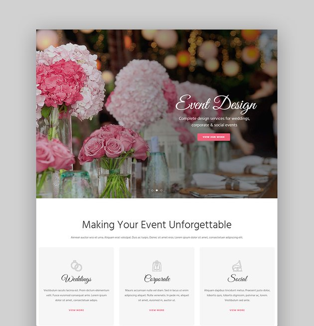 WoWedding Wedding Planner WordPress Theme