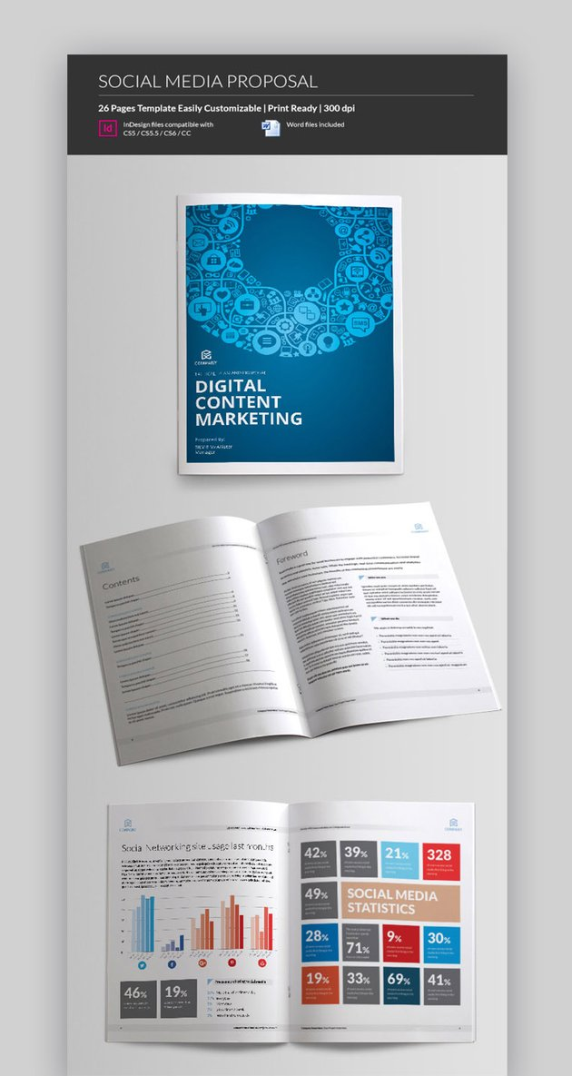 Social Media Proposal Template 2021 with Digital Marketing Proposal DOC