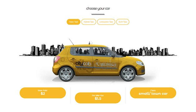 CityCab Taxi Booking Theme Fleet Showcase