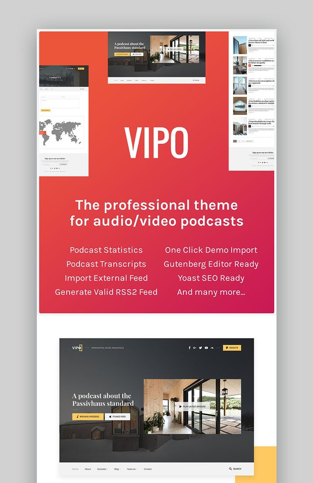 Vipo Video Elements WordPress Theme