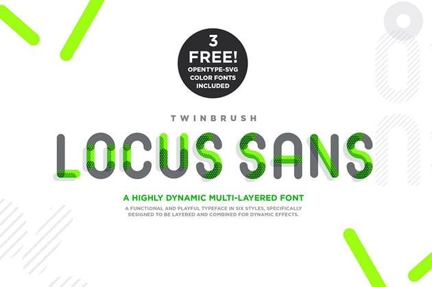 Locus Sans Two Color Font