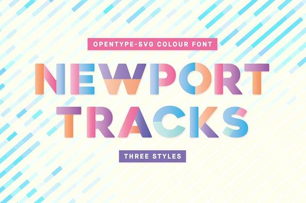 Newport Tracks Color Font