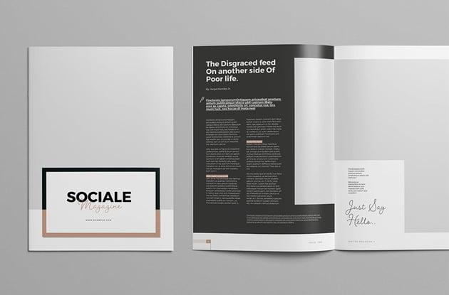 Sociale Themed Magazine
