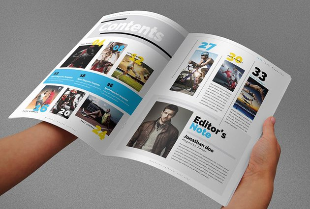 Sport Magazine Table of Contents