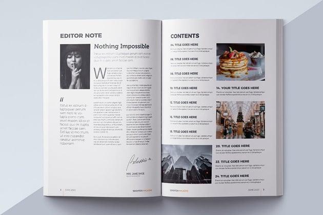Design Forward Magazine Table of Contetns