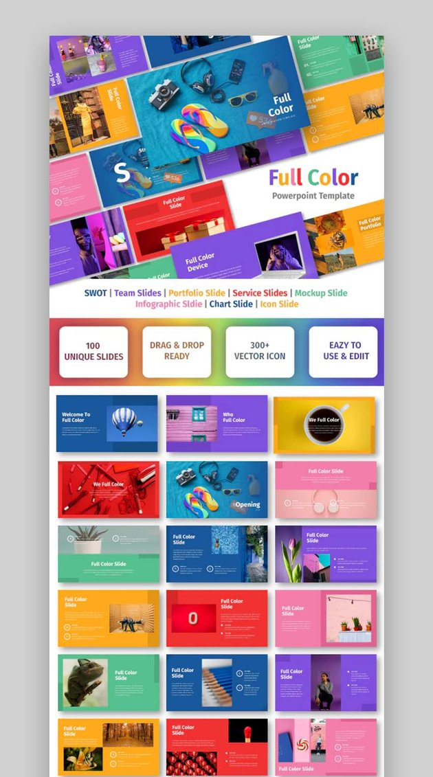 Full Color Fun PowerPoint Slides