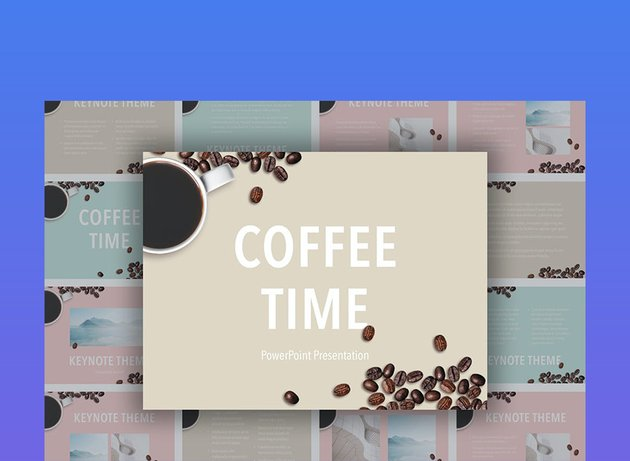 Coffee Time Coffee Shop PPT Template