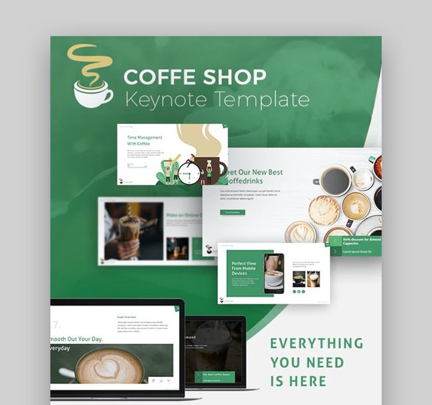 Coffee Shop Keynote Template