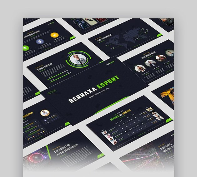 Berraxa Gaming Downloadable Google Slides Themes