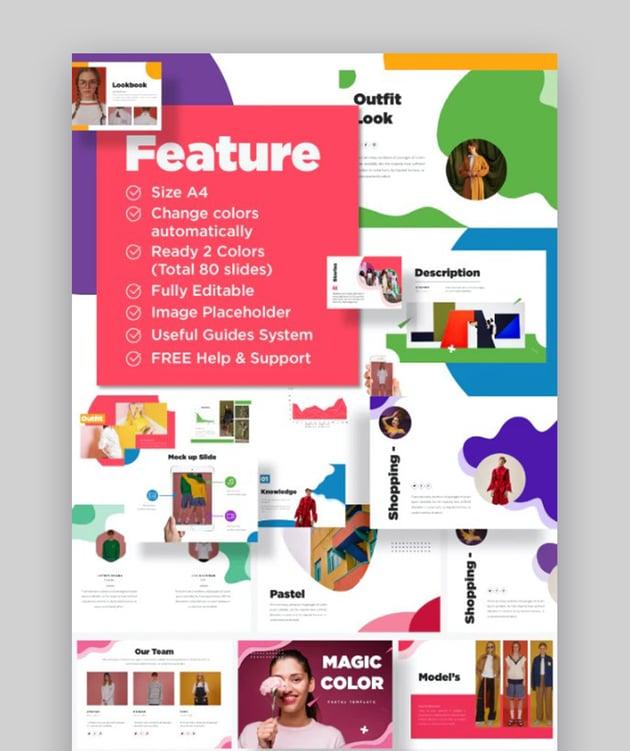 Colorful A4 Fun Google Slides Themes