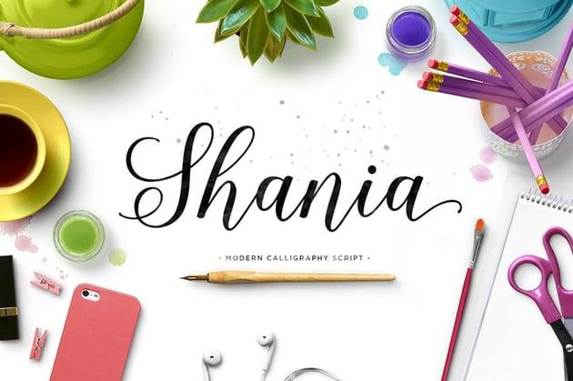 Shania Modern Calligraphy Font