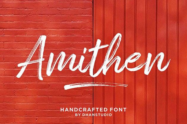 Amithen Brush Sign Lettering Font