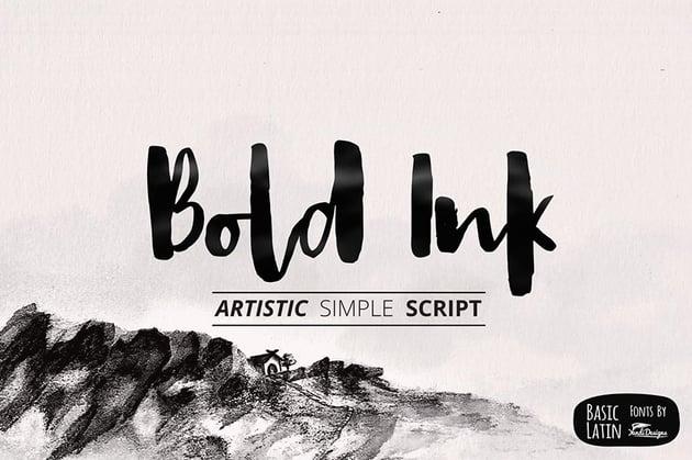 Bold Ink Hand Lettered Font