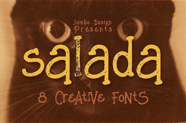 Salada Hand Lettering Styles