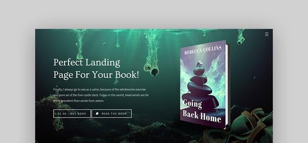 Novela eBook Landing Page