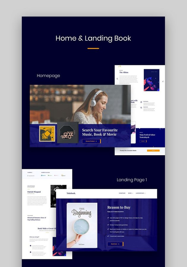 Novely Book Landing Page Examples