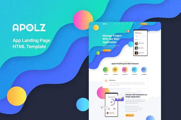 Apolz Mobile App Landing Page Template