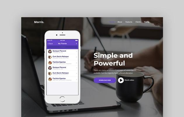 Morris App Download Landing Page