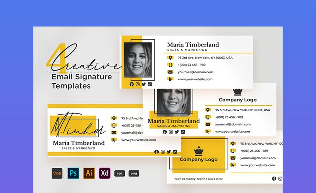 Creative Email Signature V05 Email Footer Design