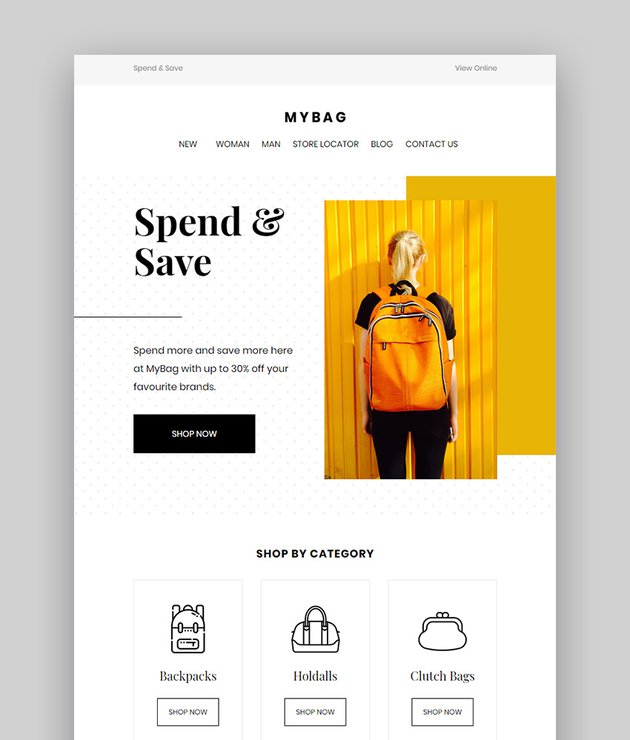 MyBag Email Newsletter Templates