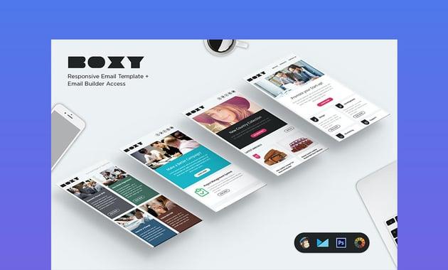 Boxy E-newsletter Best Newsletter Design 2021