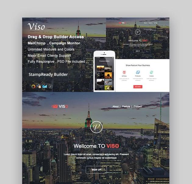Viso - Responsive Email  Builder Online