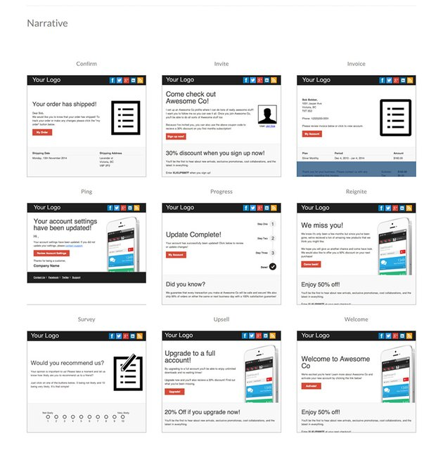 Narrative Mailchimp Email Templates Free Download