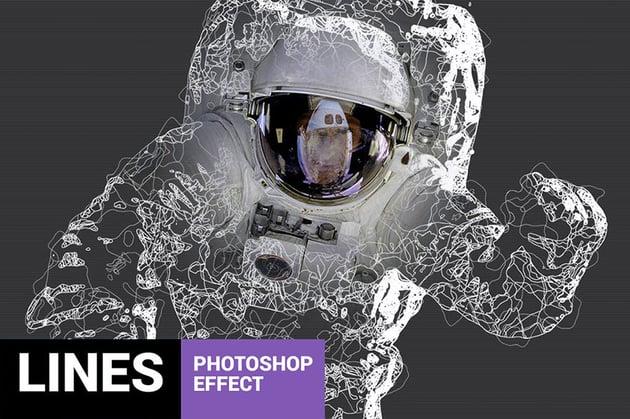 Fibrum Lines Art Photoshop Action