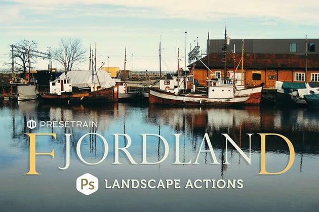Fjordland Landscape Photoshop Actions