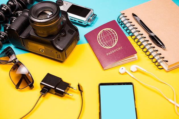 Summer photographer kit who loves to travel