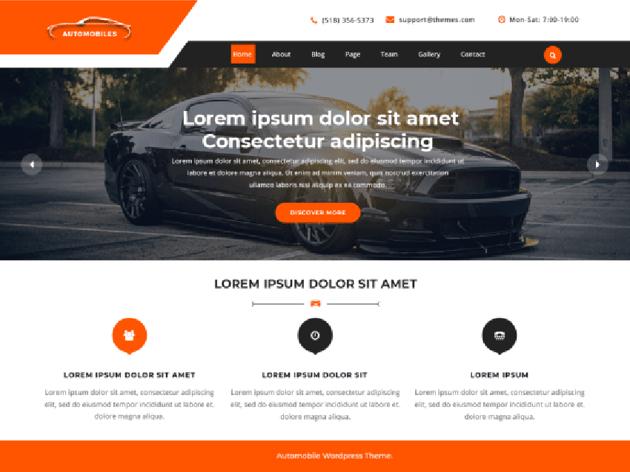 VW Automobile Lite WordPress Car Service Theme Free