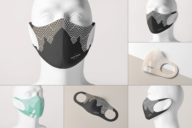 Face Mask Mockup 3