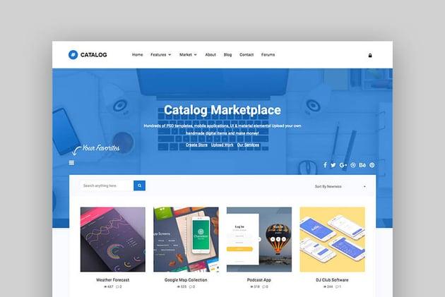 Catalog - Mejor tema de marketplace para WordPress