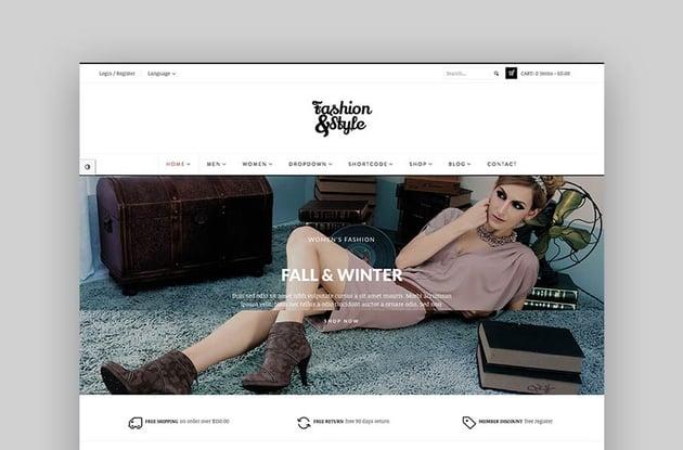 Fashion - Tema para marketplace con WordPress estilo vintage