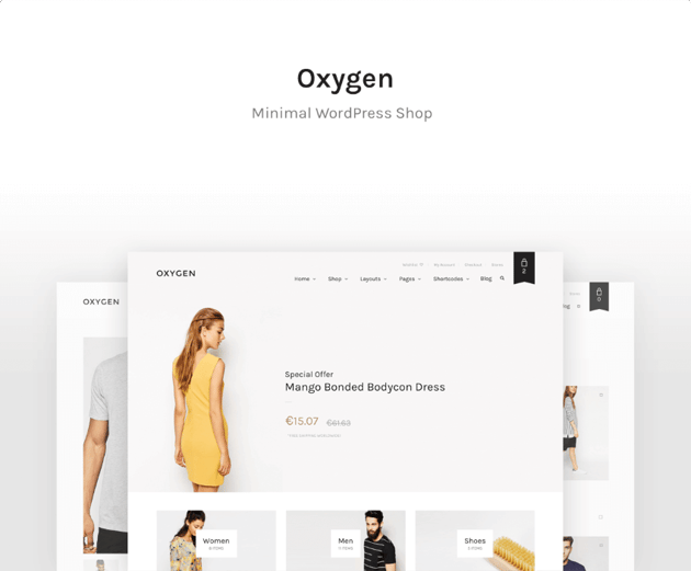 Oxygen - Tema de WordPress para eCommerce