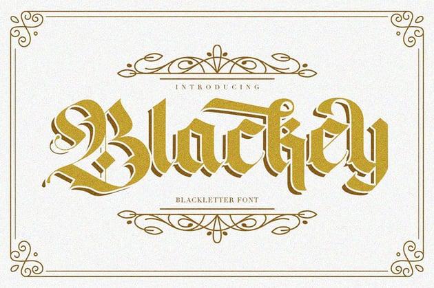 Blackey Decorative Gothic Font