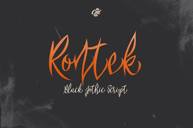 Rontek Gothic Script Font